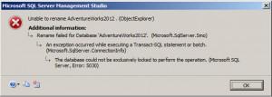 Database lock error